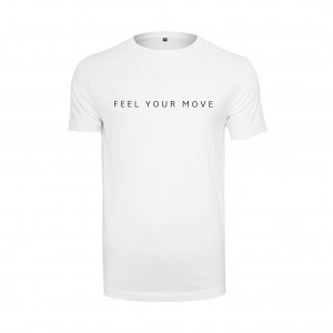 "Basic T-Shirt ""Feel Your Move"" weiß DT005W"