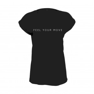 "Damen T-Shirt ""Feel Your Move"" schwarz DT021B"