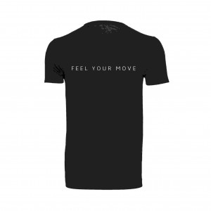 "Basic T-Shirt ""Feel Your Move"" schwarz DT005B"